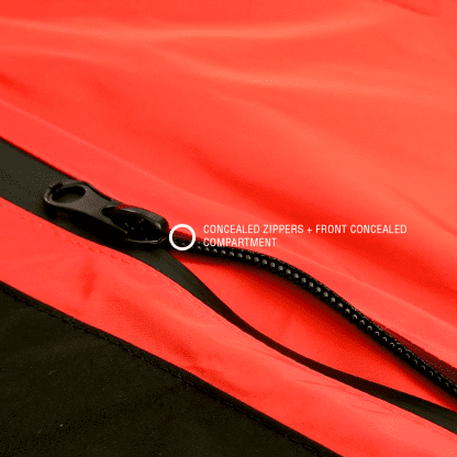 Zipper closer view for RESURGENCE® + TRAKTRAIN | Light Jacket