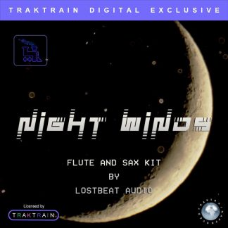 "Cover for Traktrain Flute and Sax Kit ""Night Winds"" (200+ Samples) by Lostbeat Audio"