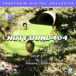 "Cover for Traktrain Drum Kit ""Notfound404"" (100 One-Shot Samples) by Adriann Cavrera"