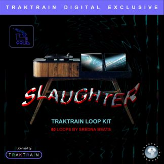 "Cover for Traktrain Loop Kit ""Slaughter"" (50 Loops) by Sredna Beats"