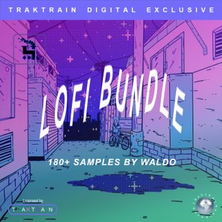 "Cover for Traktrain Sample Pack ""Lofi Bundle"" (180+ Samples) by Waldo"