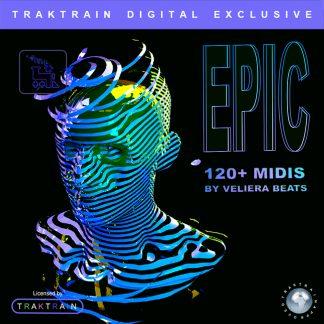 "Cover for Traktrain MIDI-Kit ""Epic"" (120+ MIDIs) by Veliera Beats"