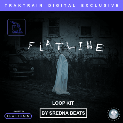Sredna Beats presents Traktrain Dark Ambient Loop Kit - Flatline (50 Loops)