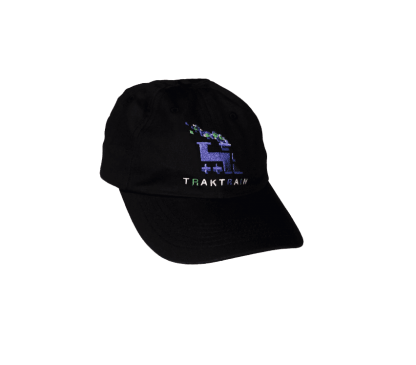 TRAKTRAIN presents 6 Panel Black Hat (Free shipping in USA)