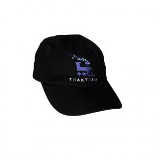 TRAKTRAIN presents 6 Panel Black Hat (Free shipping in USA)