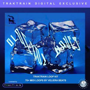 "Cover for Traktrain MIDI-Kit ""Glacial Waves"" (70+ MIDI-Loops) by Veliera Beats"