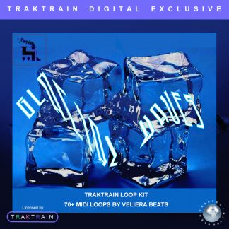 "Cover for Traktrain MIDI-Kit ""Glacial Waves"" (70+ MIDI-Loops) by Veliera Beats"