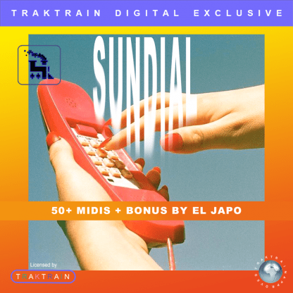 "Cover for Traktrain MIDI-Kit ""Sundial"" (50+ MIDIs + Bonus) by El Japo"