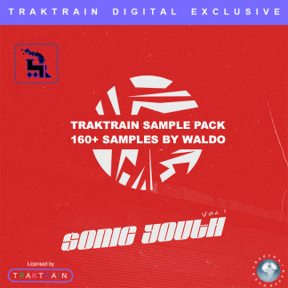 "Cover for Traktrain Sample Pack ""$onic Youth"" (160+ Samples) by Waldo"
