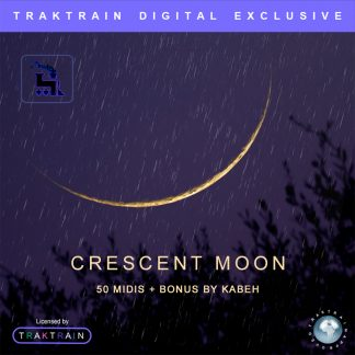 "Cover for Traktrain MIDI-Kit ""Crescent Moon"" (50 MIDIs + Bonus) by Kabeh"