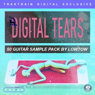 "Cover for ""Digital Tears"" 50 Guitar Sample Pack by LOWTOW"