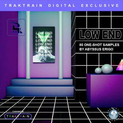 "Cover for Traktrain Drum Kit ""Low End"" (80 One-Shot Samples) by Abyssus Erigo"