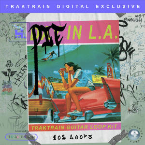 """Cover for """"Die in L.A."""" Traktrain Guitar Loop Kit (102 Loops)"""