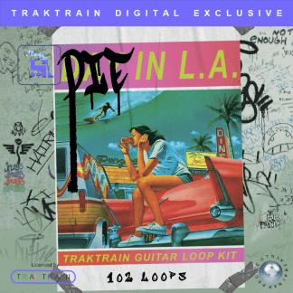 "Cover for ""Die in L.A."" Traktrain Guitar Loop Kit (102 Loops)"