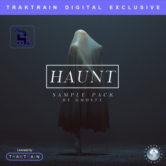 "Cover for ""Haunt"" Sample Pack (200+ Samples + Bonus MIDIs) by Ghosty"
